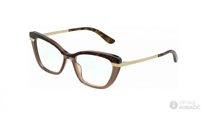 Izrazite svoju osobnost i životni stil Cat Eye četvrtastim dioptrijskim naočalama kao što su Dolce & Gabbana DG 3325 3256.