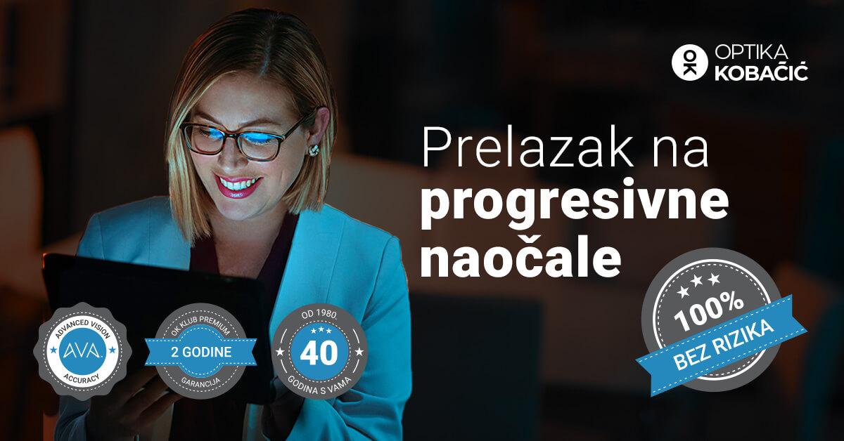 Prelazak na progresivne naočale u Optici Kobačić